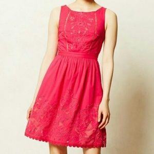 Short pink Anthropologie dress